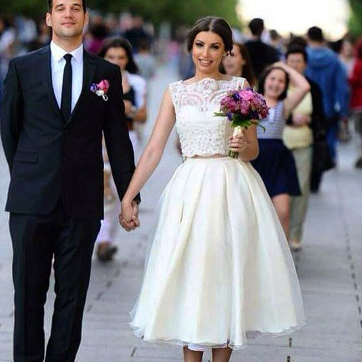 28 Two Piece Wedding Dresses: 1000+ Ideas About Tea Length Wedding On Pinterest