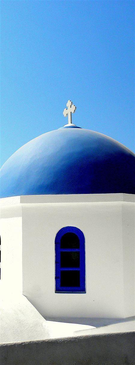 Blue Church Dome Santorini ======  For more photos, visit our page ====  Azamara Club Cruises - Greek Island Cruise July 2015