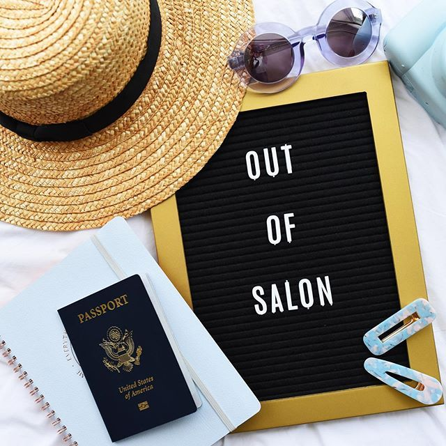 Out Of The Salon The Cutest Graphic For Your Hair Page Instagram To Tell Clients You Ll Be Out Of Town Want More Do Out Of Salon Out Of The Salon Hair