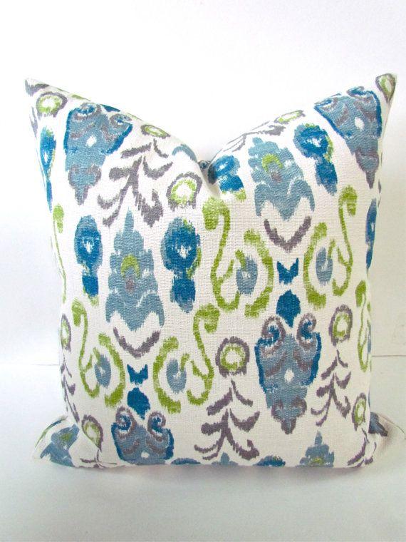 TEAL BLUE PILLOW Euro Shams 22x22 24x24 26x26 Decorative Throw Pillows Green Navy Blue Throw Pillow Covers Modern Home and Living Geometric