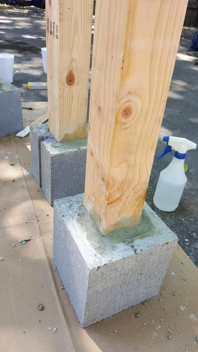 My first real project – a free standing fence for an apartment patio – Katie S