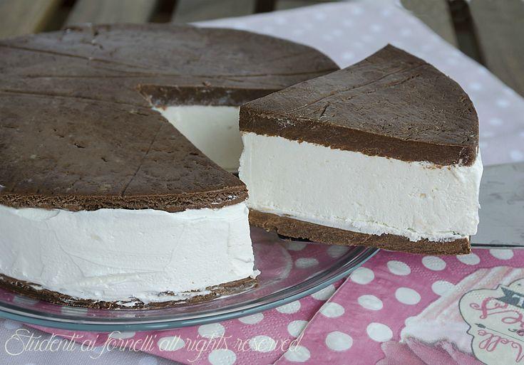 Torta+fredda+kinder+fetta+a+latte