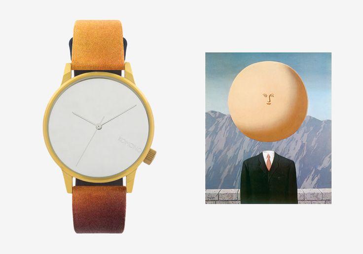 Komono x René Magritte — hodinky Winston — pánské, dámské — surrealistické motivy — The Art of Living — Umění žít #watches #komono #surrealism #magrite #renemagritte #surrealismus #hodinky #winston
