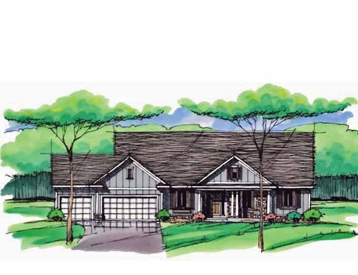 Eplans Ranch House Plan Three Bedroom Ranch 2036