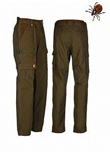 Rovince Ergoline Trousers made from the Patented ZECK-Protek treatment which is effective against Ticks, Midges, Mosquitos and many other biting insects.