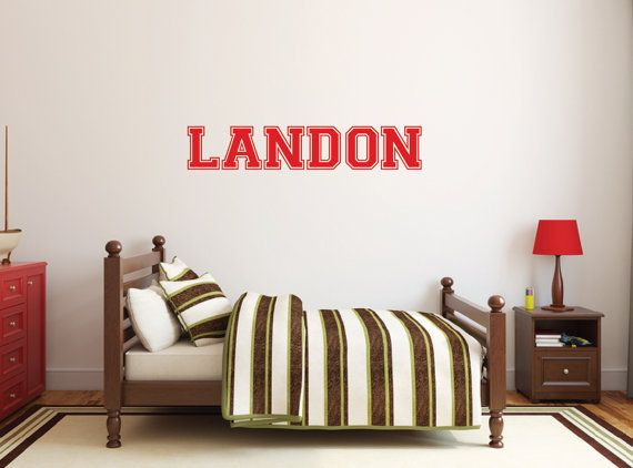 sports decor personalized wall decals sports decals wall stickers for kids name