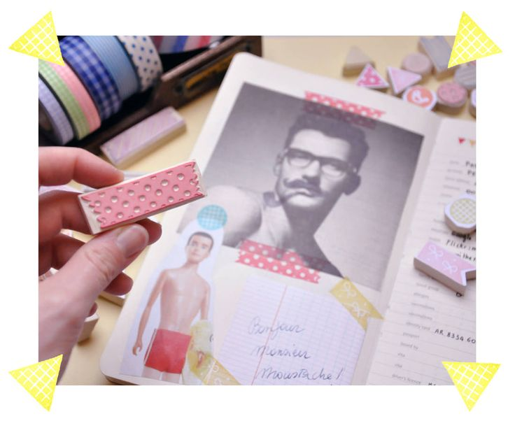 I love it when I see crafters sharing examples of an inspired idea coming to life. Memi the Rainbow shows off how she was inspired to make washi tape stamp