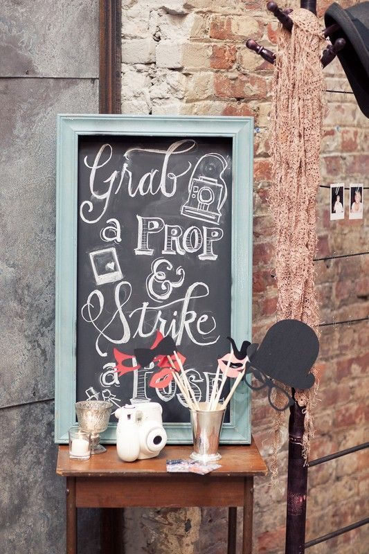 Simple instructions for a photo booth. Ingredients to an Awesome Wedding Photo Booth. Photo by Rima Brindamour