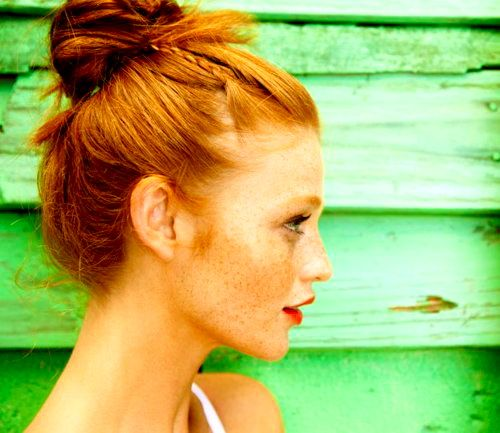 Cintia Dicker - buns just look so cute on redheads~