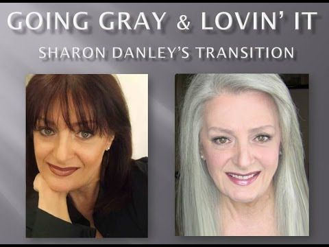 """Going Gray & Lovin' It - Sharon Danley's Transitioning, showing all her little """"helps"""" of hair extensions etc to make the ride less bumpy."""