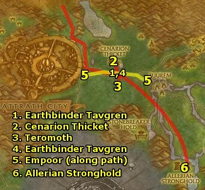Terokkar Forest Leveling Guide (Level 63-65) Terokkar Forest Leveling Guide  This is the Terokkar Forest leveling guide for Alliance, for levels 63-65. It was from Ding85, a great WoW website with leveling guides. We liked their Terokkar Forest leveling guide because it was really easy to understand and has nice diagrams. You may want to print out this guide so that you don't have to constantly alt+tab between screens.  This guide is also available in video from Level 85 Guides