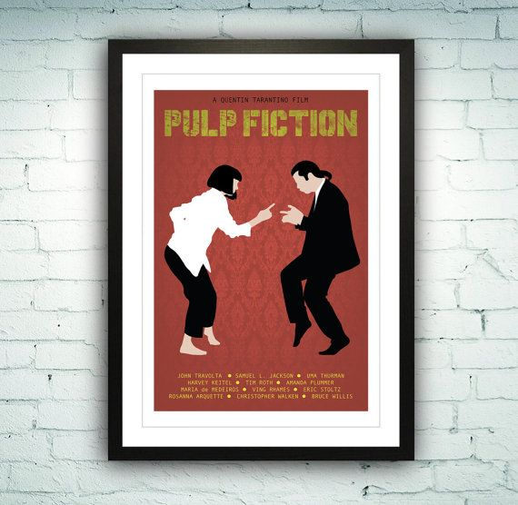 best office posters. Pulp Fiction Poster Illustration Art Print By MichaelJeanrenaud Best Office Posters A