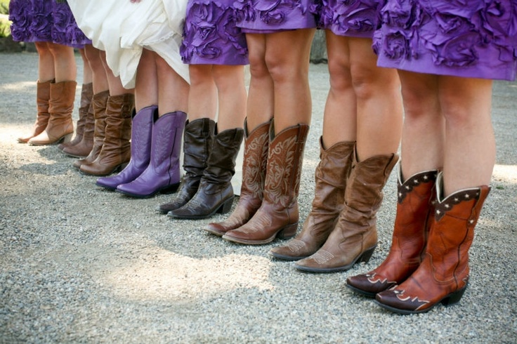 Purple and boots!  http://www.allisonstahl.com/