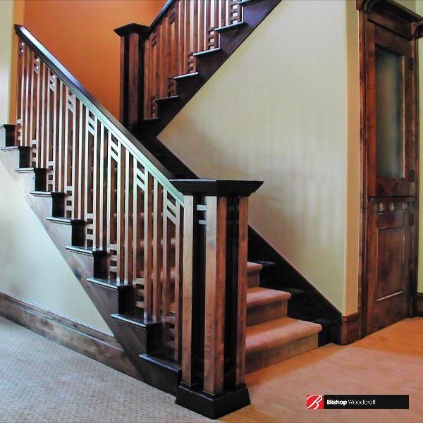 Custom Staircase Gallery Stair Images Ideas Mantels Doors In 2020 | Knotty Alder Stair Railing | Distressed | Diy | Interior | Indoor | Wood