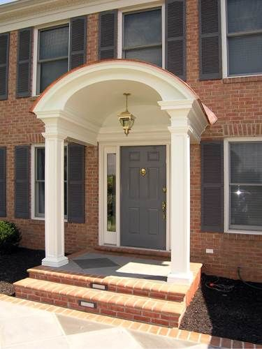 Entrance With Portico Columns : Best images about front porch entrance on pinterest