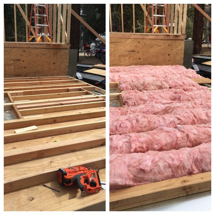 the floor is framed with 2x4s and 4x4s and insulated with r30 fiberglass insulation