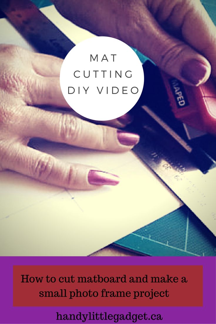 How to cut matboard to make a frame for photos, needlework, or other artwork. Includes instructions for making a dual photo frame.