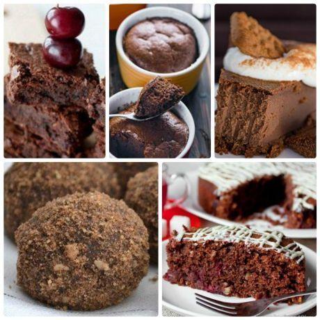 5 рецептов низкокалорийных шоколадных десертов без вреда для фигуры!    Сохрани себе!    1. Диетический шоколадный чизкейк, для сладкоежек сидящих на диете!   На 100 гр - 107.87 ккал  белки - 16.118  жиры - 1.68  углеводы - 7.24     Ингредиенты:  Творог обезжиренный - 400 г;  Молоко 1% жирности - 100 г;  Мед пчелиный - 20 г;  Желатин пищевой - 15 г;  Какао-порошок - 50 г;    Приготовление:  15 г желатина замочить стаканом воды на 30 мин. Потом слить воду с набухшего желатина (если остане...