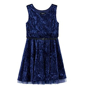 A. Byer Girls' 7-16 Sleeveless Fit And Flair Dress