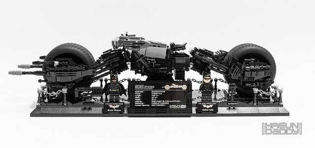 Fan built LEGO UCS Batpod in black and very dark grey