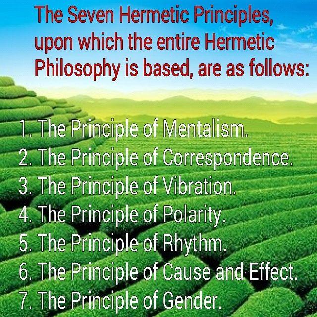 Image result for the seven principles of hermes trismegistus