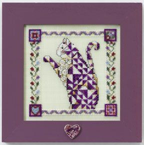 """Wichelt Imports Jim Shore """"Quilted Cats"""" kitQuilt Cat, Jim Shore, Stitches Kits, Stitches Kitpetunia, Crosses Stitches, Cross Stitches, Needlework Crossstitch, Kitpetunia Cat, Cat Crosses"""