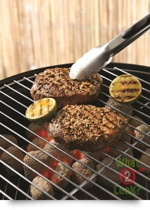 Scotch fillet steaks with oregano & cumin rub
