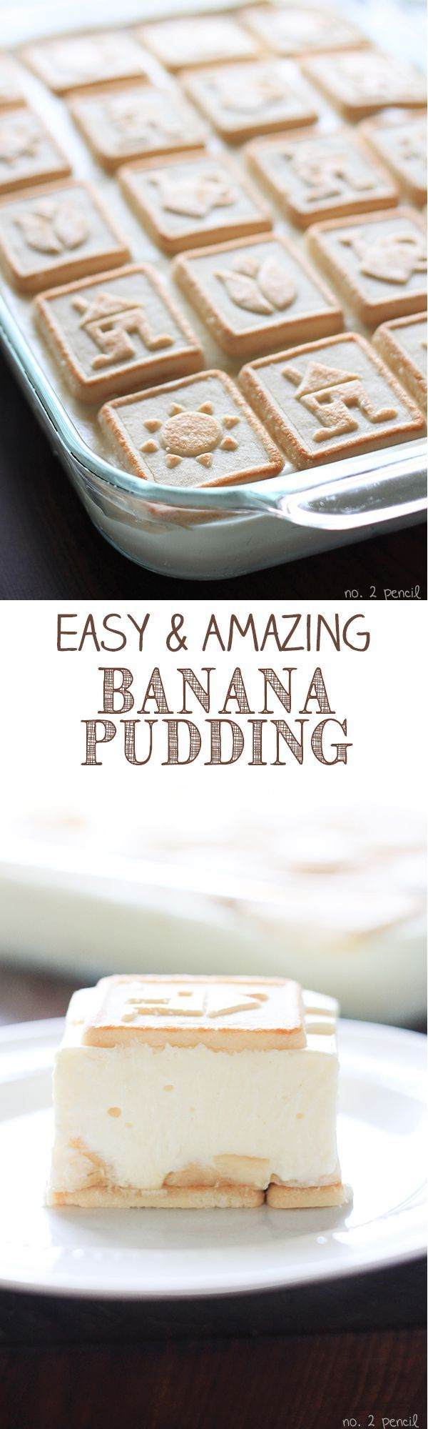 """Easy and Amazing Banana Pudding - pinner says """"everyone asks for this recipe!""""....(consistency more like mouse than pudding...can use nila wafer to layer instead of chessman...brush banana layer with lemon juice to keep it looking fresh if making ahead of time)"""