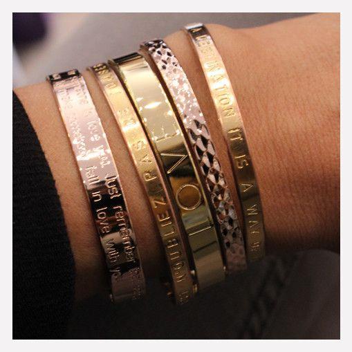 Accessoires – Romane-mya bay-jonc-love-bracelets-plaqué or, or rose
