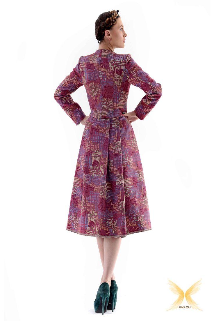 Brocade overcoat
