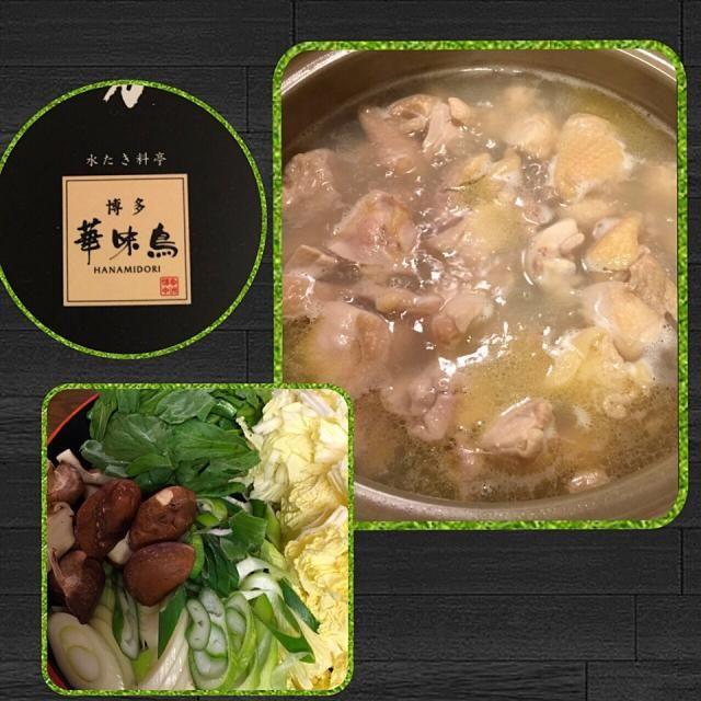 博多 華味鳥の水炊き まずは、つみれと切り身だけ入れスープを味わい 鶏肉をポン酢でいただく それから、お野菜 〆は、うどんで はぁ〜〜、美味しかった - 97件のもぐもぐ - 博多水炊き by Mina0602