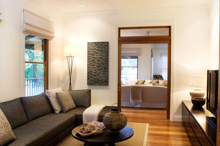 TV room with Jardan empire sofa. Brooke Aitken Design.
