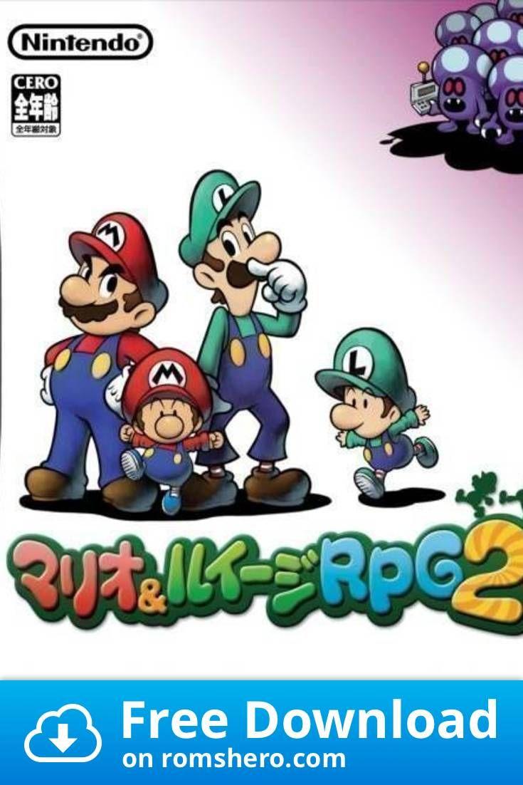 Download Mario Luigi Rpg 2x2 Nintendo Ds Nds Rom Mario And Luigi Mario Nintendo Ds