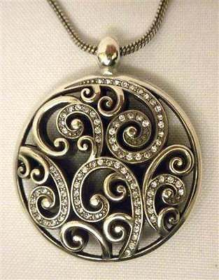 "Brighton ""Anahita"" Reversible Pendant Necklace, Swarovski Crystals #JN0262 NWTS"
