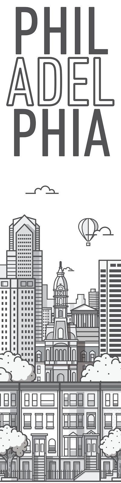 philadelphia city illustration