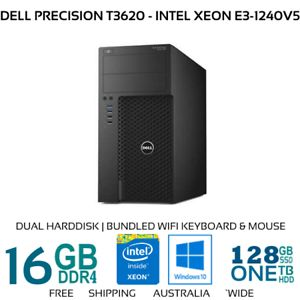 Get Dell Precision T3620 comes with Intel Xeon E3-1240V5 processor along with16Gb DDR4 meory.