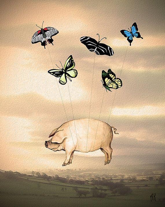 Cerdo volador por AdeleKarmazyn en Etsy