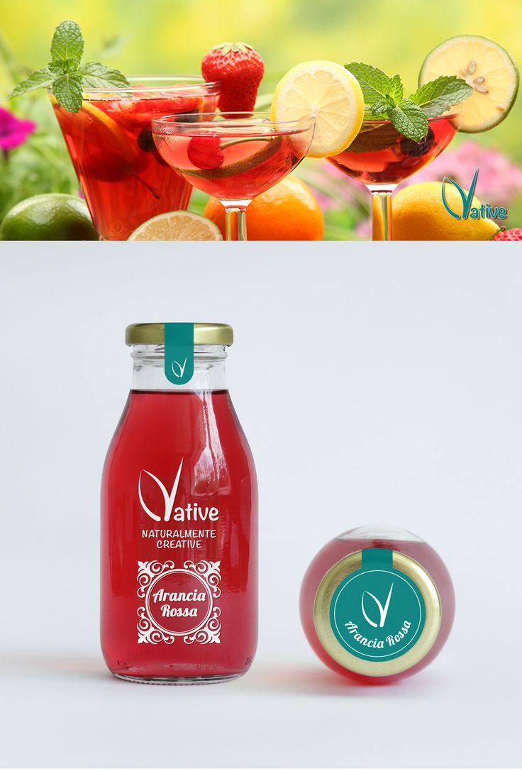 #grafichenuovatipografia #grafiche #nuova #tipografia #logo #coordinamento ##loghi #presentazione #juice #succo #bottle #bottiglia #rosso #red #nature #Concept #packaging