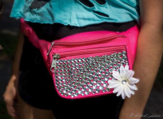 Rave Festival Jeweled FannyPack TomorrowWorld by ElectricPeacez, $20.99