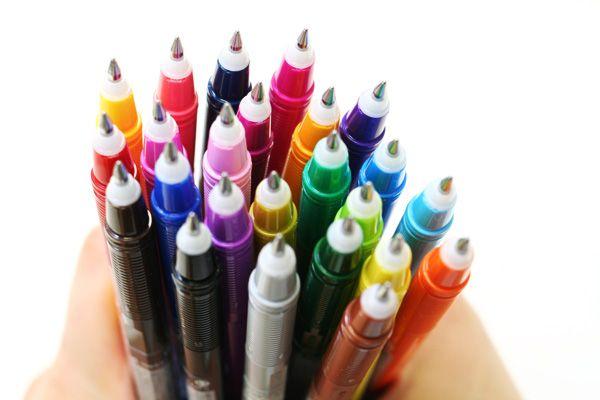 Pilot FriXion Color-Pencil-Like Erasable Gel Ink Pen - 0.7 mm - 12 Color Set