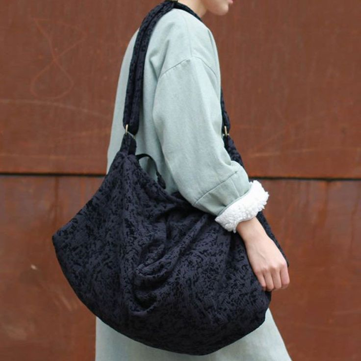 Casual Irregular Cotton Shoulder Messenger Bag