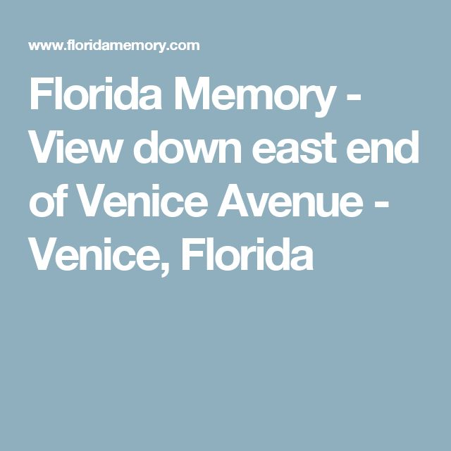 Florida Memory - View down east end of Venice Avenue - Venice, Florida
