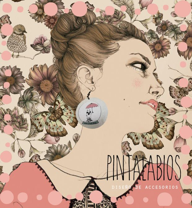 collage con aros pintalabios♥