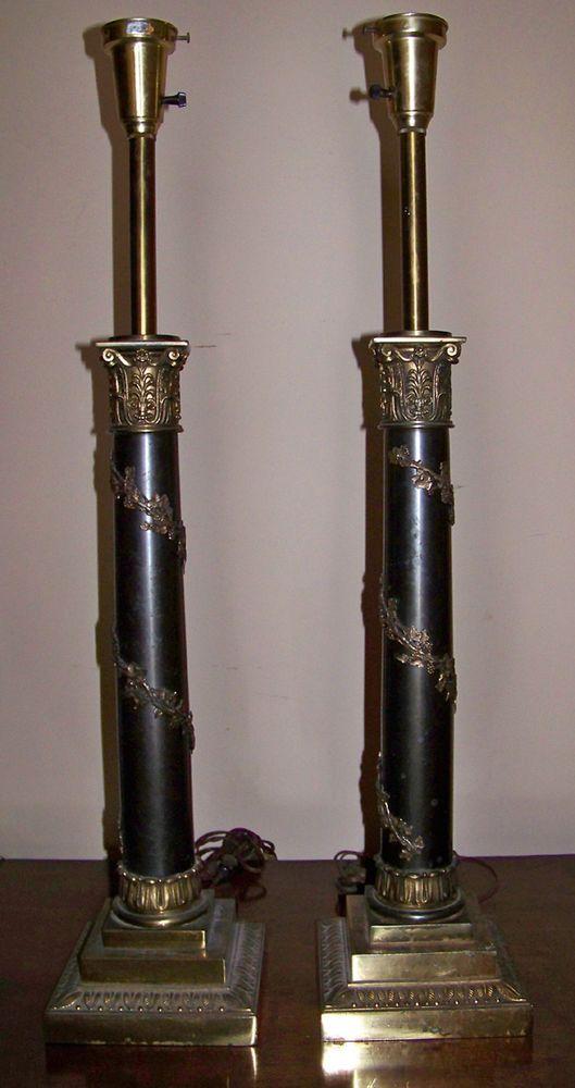 Pair of Large Stiffel Vintage Hollywood Regency Lamps #Stiffel