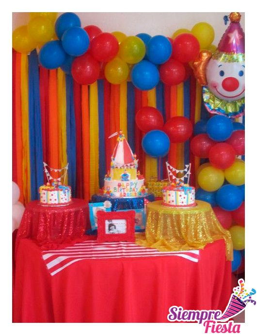 17 best images about fiestas de payaso on pinterest - Ideas para cumpleanos infantiles ...