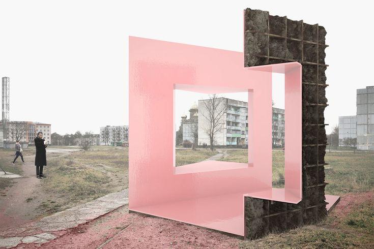 Spændende tanke at skabe et ude/inde/ude-rum der ikke bliver alt for indelukket (Two-Face Furniture - Norell/Rodhe)