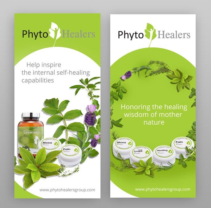Create a powerful image for trade show banner to draw clientele for PhytoHealers. by trogled
