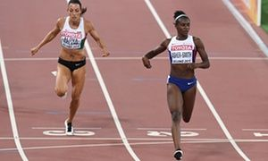 Dina Asher-Smith runs impressive PB in world championship 200m heat • Time of 22.22secs quick enough for gold in several previous years • 'The three who won gold have inspired us,' says the British sprinter