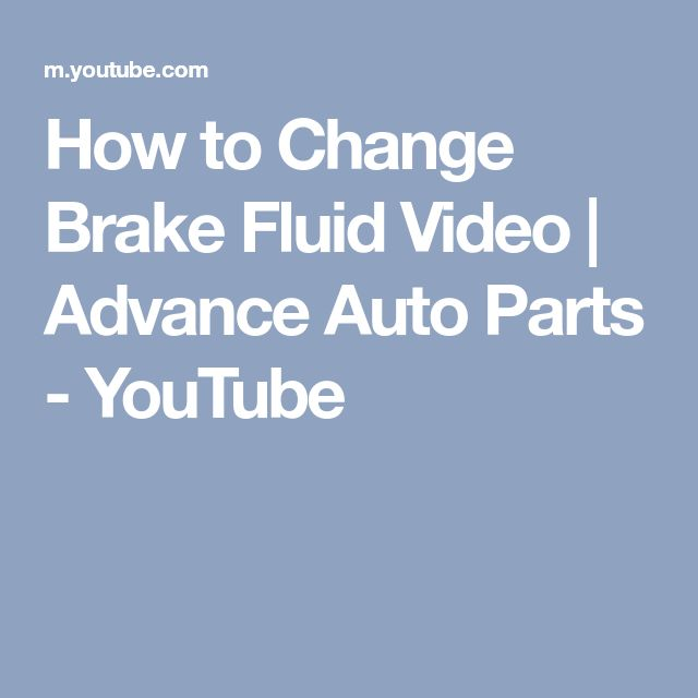 How to Change Brake Fluid Video | Advance Auto Parts - YouTube