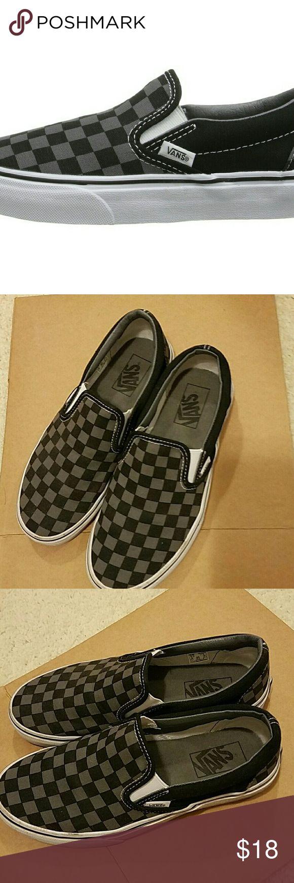 Can i buy vans for cheap mens vans slip on shoes vans on the wall - Vans Classic Checkered Slip Ons Vans Classic Checkered Slip On Shoes Black Grey